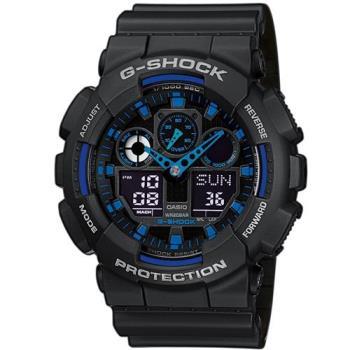 G-SHOCK 重型機械感Man個性運動錶 GA-100-1A2