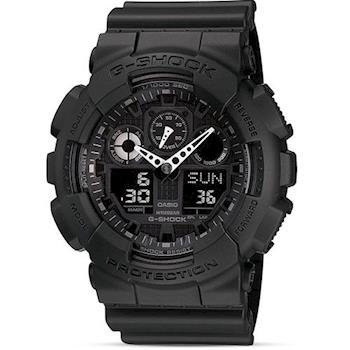 【CASIO】G-SHOCK 重型機械感Man個性運動錶 (GA-100-1A1)