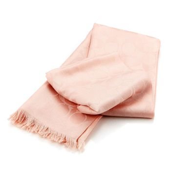 COACH C LOGO絲質/羊毛披肩/圍巾(共四款)