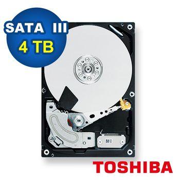 TOSHIBA 3.5吋 4TB 5400RPM / 128MB 監控型硬碟-MD04ABA400V