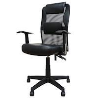 凱堡 羅格經典高背皮面T型扶手電腦椅辦公椅