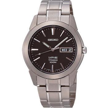 SEIKO 鈦金武士時尚腕錶-鐵灰/37mm 7N43-0AS0D(SGG731P1)