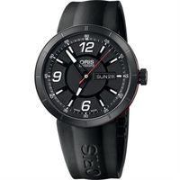ORIS TT1 Day Date 陶瓷極速機械腕錶-橡膠錶帶/43mm 0173576514764-0742506B