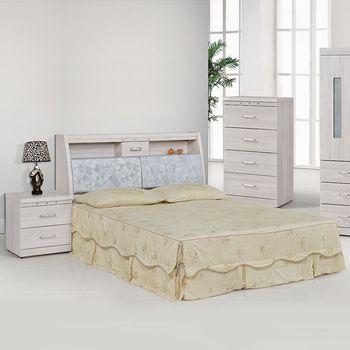 【時尚屋】[5U7]晶華雪松5尺床箱型雙人床5U7-22-01+28508不含床頭櫃-床墊