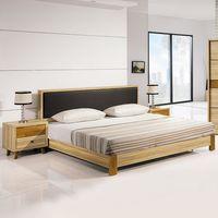 【時尚屋】[5U7]瑪莎栓木色5尺床片式床台5U7-12-51不含床頭櫃-床墊