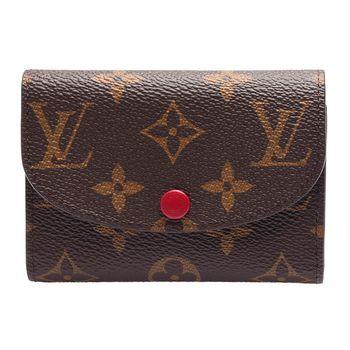 LOUIS VUITTON M41939 ROSALIE Monogram花紋信封式零錢包(紫紅色)