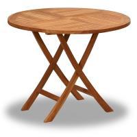 BROTHER 兄弟牌印尼柚木古典折疊80cm圓桌