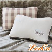 LooCa升級版-蠶絲乳膠負離子健康獨立筒枕(2入)-快速到貨