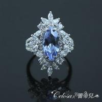 【Celosa珠寶】璀璨之美水藍晶鑽戒指