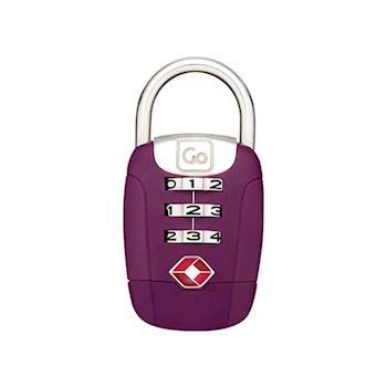 【Go Travel】TSA 旋轉密碼鎖-紫色 indulgence 寵愛自己