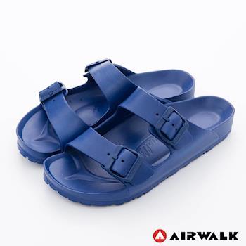 【美國 AIRWALK】休閒雙扣環多功能室內外拖鞋 -深藍