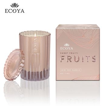 澳洲ECOYA 迷你精緻香氛蠟燭粉紅香檳 80g