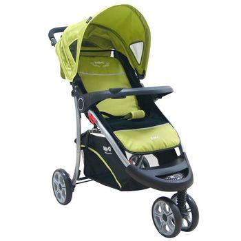 EMC 歐式豪華三輪嬰兒推車(蘋果綠 )附蚊帳雨罩