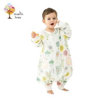 【荷蘭 Muslin tree】春秋款防踢被四層紗布寶寶分腿睡袋