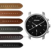 LICORNE 力抗 / LT124MWB / MYO 首創自由搭配藍寶石水晶玻璃真皮手錶 黑色 45mm