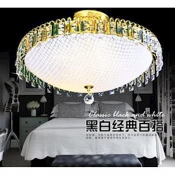 【光的魔法師 Magic Light】歐式時尚水晶燈吸頂燈 [法國金] 現代臥室客廳餐廳燈具燈飾 八燈