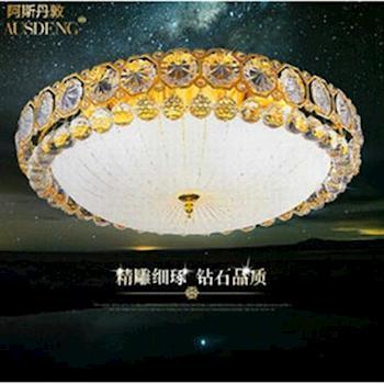 【光的魔法師 Magic Light】金色 客廳燈圓形水晶燈吸頂燈現代簡約臥室燈具餐廳燈飾