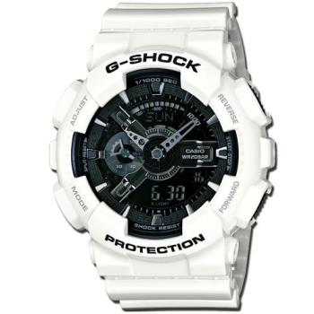 G-SHOCK 重機裝置Man冷冽抗暑色調概念錶 GA-110GW-7A