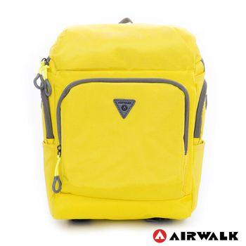 【美國 AIRWALK】(KIDS) 都市小遊俠 後開式多功能平板後背包  - 黃