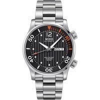 MIDO Multifort Diver 旗鑑日曆 機械錶-黑x銀/42mm M0059301106000