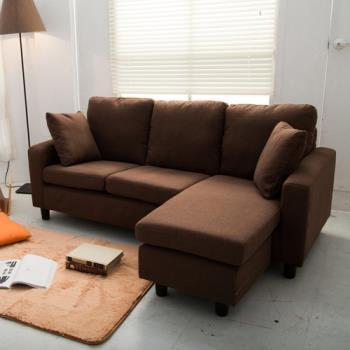 【日安家居】Frency 法式微醺L型布沙發-共四色