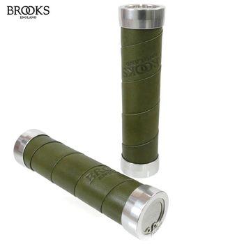 【BROOKS】SLENDER英國真皮手握BLG4-130mm_Olive green橄欖綠