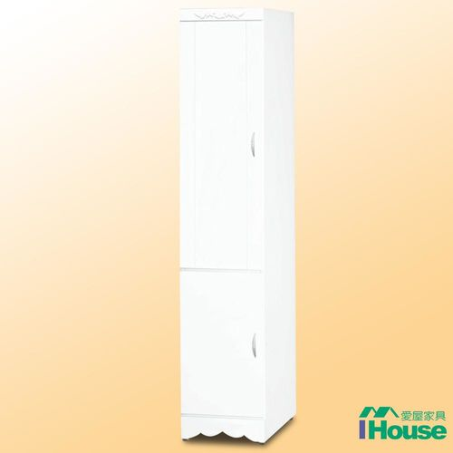 IHouse-白色小桶衣櫃「左開3x7呎」