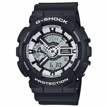 G-SHOCK酷炫街頭Man重型機械感運動錶 GA-110BW-1A