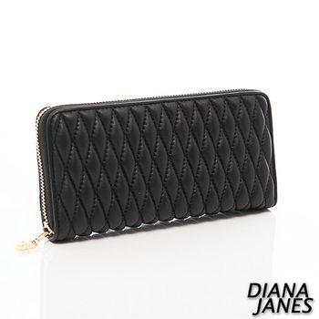 Diana Janes 小羊皮時尚抓皺女夾