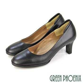 GREEN PHOENIX 質感素面高跟鞋U23-20240