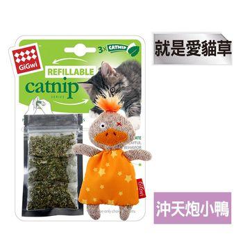 GiGwi就是愛貓草-沖天炮小鴨絨毛玩具