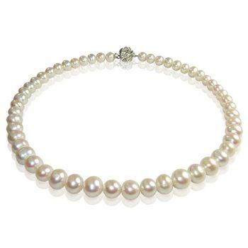 (小樂珠寶) 善變女孩流行度---頂級8mm天然珍珠項鍊