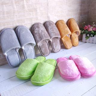 舒適絨毛保暖室內拖鞋4雙超值隨機組