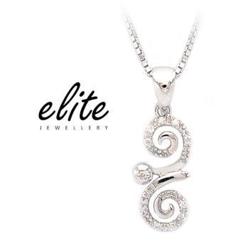 【Elite 伊麗珠寶】925純銀項鍊 輕淑女系列 - 永遠愛你