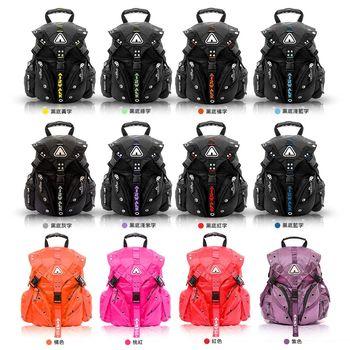 (買大送小)【美國AIR WALK】美式潮流三叉釦系列後背包送休閒專業收納袋 -共12色