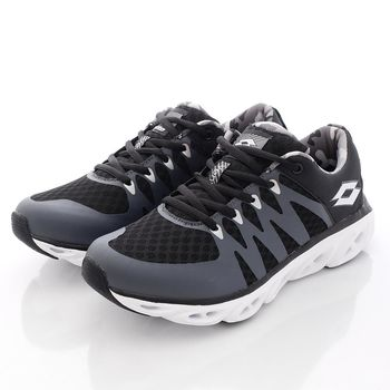 Lotto樂得-風洞輕量跑鞋-WR3410黑(女段)-(23cm~25cm)