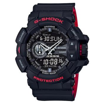 G-SHOCK 街頭潮流紅黑騎士精神雙顯運動錶 GA-400HR-1A