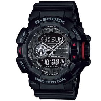 G-SHOCK 亮彩新色時尚新層次街頭雙顯運動錶 GA-400-1B