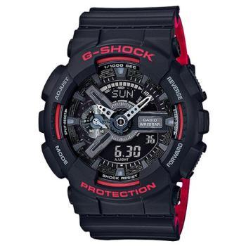 G-SHOCK 紅黑騎士重機裝置休閒運動錶 GA-110HR-1A