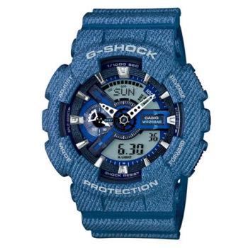 G-SHOCK 丹寧紋路潮流街頭設計時尚休閒錶 GA-110DC-2A