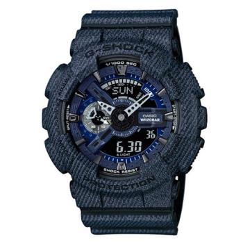 G-SHOCK 丹寧紋路潮流街頭設計時尚休閒錶 GA-110DC-1A