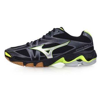 【MIZUNO】WAVE BOLT 6 男排球鞋-美津濃 黑螢光黃