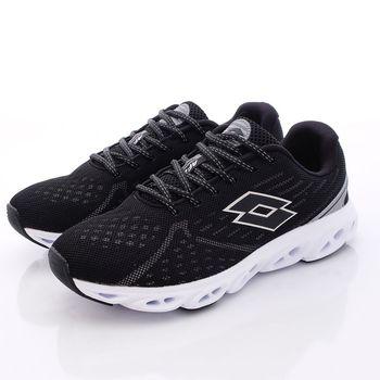 Lotto樂得-氣動減震跑鞋款-3700黑(男段)(25.5cm~29cm)