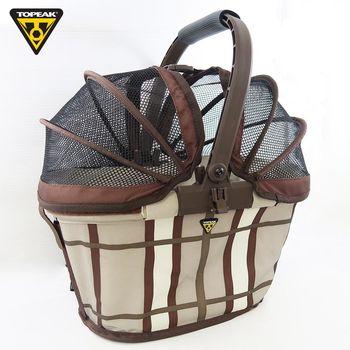 TOPEAK MTX Basket Rear 單車/自行車前置物籃購物菜籃-咖啡條紋
