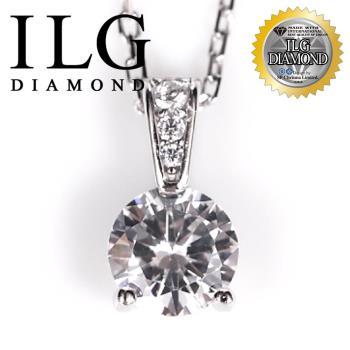 【ILG鑽】頂級八心八箭擬真鑽石項鍊-NC114-永恆愛戀款 主鑽約75分 媲美真鑽女朋友最愛