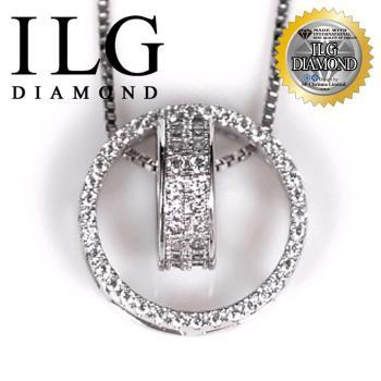 【ILG鑽】頂級八心八箭擬真鑽石項鍊-Free traveler款 NC105 精緻閃耀於鎖骨小資女最佳首選