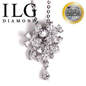 【ILG鑽】頂級八心八箭擬真鑽石項鍊-芬芳花語款NC102完美點綴氣質款