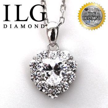 【ILG鑽】頂級八心八箭擬真鑽石項鍊-NC096童心佳人款生日禮物美麗兼具時尚