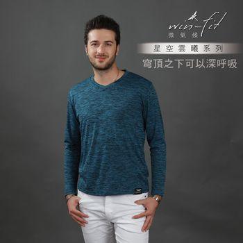 SANTO星空輕暖衫一入-藍色