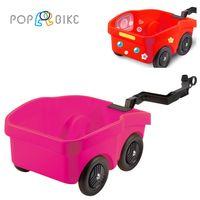 【BabyTiger虎兒寶】POPBIKE 兒童平衡滑步車專用配件 - 拖車 POP BIKE TRALIER - 粉紅色